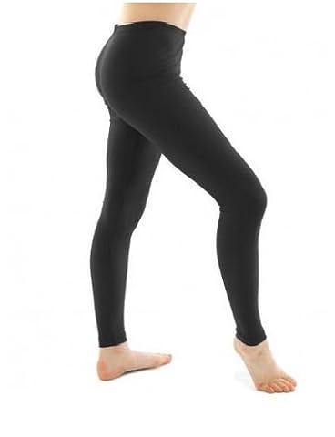RSVH Girls Children Kids Footless Leggings Ballet Dance Gymnastics Shiny Nylon Lycra (9-10 Yrs,