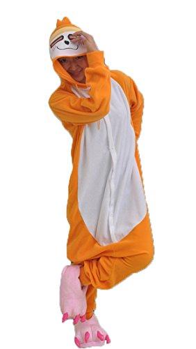 Honeystore Unisex Lori Kostüm Erwachsene Tier Jumpsuits Onesie Pyjamas Nachthemd Nachtwäsche Cosplay Overall Hausanzug Fastnachtskostüm Karnevalskostüme Faschingskostüm Kapuzenkostüm L