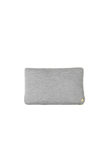 ferm LIVING Kissen Quilt 40 x 25 cm, light grey