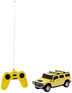 Toyhouse Officially Licensed 1:24 Hummer H2 SUV RC Scale Model Car, Yellow