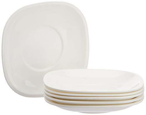 Signoraware Quarter/Snack Plate Set, Set of 6, White