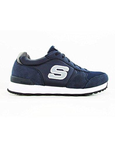 Scarpe sportive Skechers Originals per uomo in tessuto blu (Taglia 40)