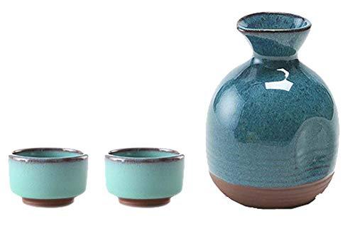 Black Temptation Bouteille de vin en céramique de Style Ancien mis en Verre Set de vin de saké, M2