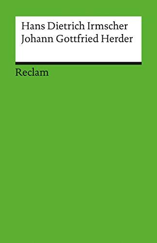 Johann Gottfried Herder: Reclam Literaturstudium