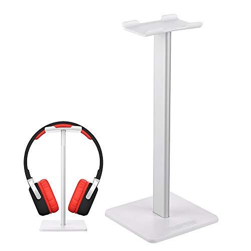 New Bee Kopfhörer Ständer Universal Kopfhörer Halter für Over Ear Kopfhörer, Gaming Headset und Kopfhörerdisplay, aus Aluminium + TPU + ABS (Silber)
