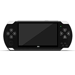 HJL Handspiel-Konsole, tragbare Handheld-Konsole 4,3-Zoll-High-Definition-großer Bildschirm Spiel/Video/Foto/E-Book…