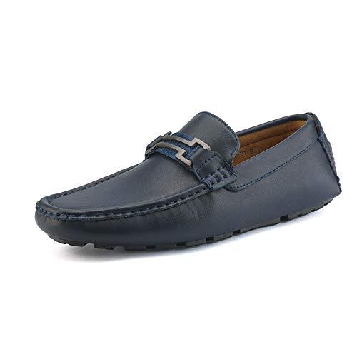 Bruno Marc Hugh-01 Mocasines Zapatos sin Cordones para Hombre Zapatos de Conducción Plano Azul Marino...