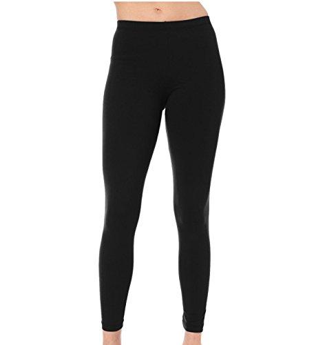 Mädchen Footless Lycra Neon Farben Dance Leggings 5–12Jahre schwarz schwarz 11-12 (80er Dance Kostüme Jahre)