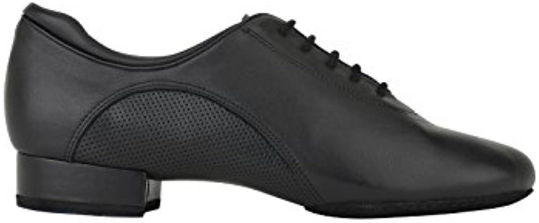 Rumpf 2433 Zapato Baile Hombre Estándar Salón Tango Latino Salsa Trainer Cuero Suela de cromo tacón 2,5 cm color  -