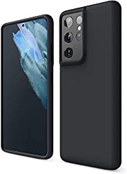 YoYoTech Silicone Protective Case Cover designed for Samsung Galaxy S21 Ultra Soft Liquid Rubber Gel Matte Fin