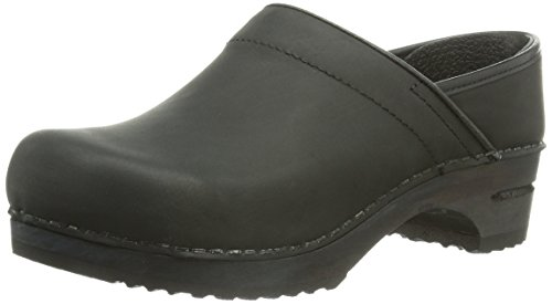 Sanita Julie, Sabot in pelle Donna Nero (Schwarz (2 black))