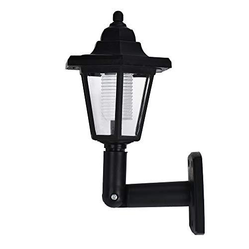 - WATOPI - Lanterna da parete a energia solare, a LED, per esterni, illuminazione da giardino, accensione e spegnimento automatici, wireless, impermeabile, per patio, portico, luce calda