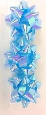 3PK blau irisierend Mini Band Bögen Geschenkpapier Geschenk Dekoration Craft Paket