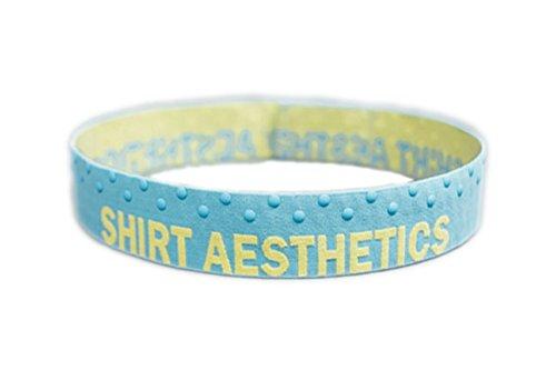 SHIRT AESTHETICS Shirt Stays (Hemd-Halter) - Fixiert das Hemd in der Hose! (S, Blue-Yellow) -