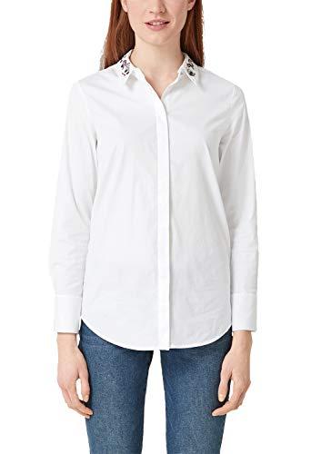 s.Oliver RED LABEL Damen Bluse mit abnehmbarem Schmuckkragen White 32