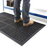 Grande tappetino d'entrata in gomma da esterni, tappetino antiscivolo drenante–3taglie disponibili, 0.6m x 0.9m