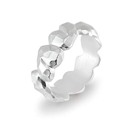 Drachenfels Luxus Damenring mit Herzen | Kollektion Heartbreaker | Niedlicher Herz Ring in Echtsilber | Edler Designer-Schmuck aus 925 Sterling Silber | Gr. 54