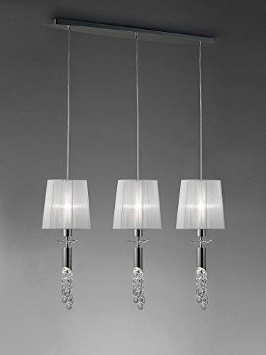 mantra-lampara-colgante-coleccin-tiffany-3-pantallas-3855-color-cromo-y-tela-en-blanca