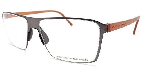 Porsche Design P8309 B Brille, gebürstet, 56 mm, Grau/Braun - 56 Brillen
