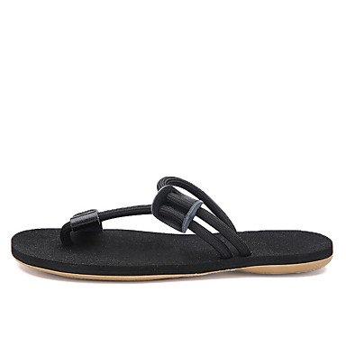 pantofole Infradito da uomo Pantofole & amp;Infradito Estate Comfort PU casual Blac Tallone piano sandali US7 / EU39 / UK6 / CN39