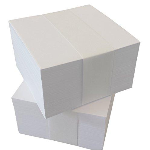 1000 Notizzettel 10x10 cm unbedruckte lose Blätter für Zettelboxen-Nachfüllset (22500)