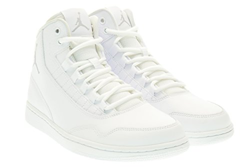 Nike Jordan Executive, Scarpe indoor multisport uomo Multicolore Blanco / Gris (White / Wolf Grey-White) 44