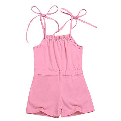 Babykleidung, Sling Solid Strap Strampler Bodysuit Pwtchenty Jumpsuit Baby Mädchen Sommer Säuglingsbaby Sommerkleidung Set Strandkleidung Overall Kleidung