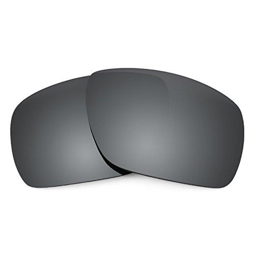 Verres de rechange pour Oakley Dispatch 1 — Plusieurs options Noir Chrome MirrorShield® - Non-Polarisés