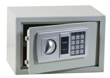 Cassaforte a muro Toro acciaio elettronica 2 catenacci Hotel cm 31x20x20