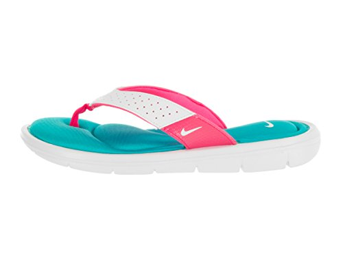 Nouveau Nike Comfort Thong Rose / Ladies bleu 5 White/Turquoise Blue/Pink Flash/White