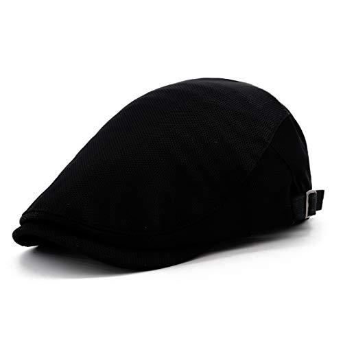 0b8b2e6e52 Gisdanchz Boina Hombre Boinas Gorras De Hombre Verano Sombrero De Vendedor  De Periódicos Moda Casual Ajustable