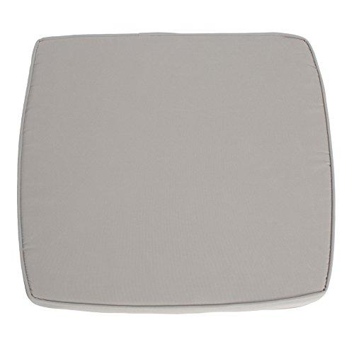 Modernes Sitzkissen NIZZA hellgrau passend zum Liegesessel Outdoormöbel Stuhlkissen Kissen