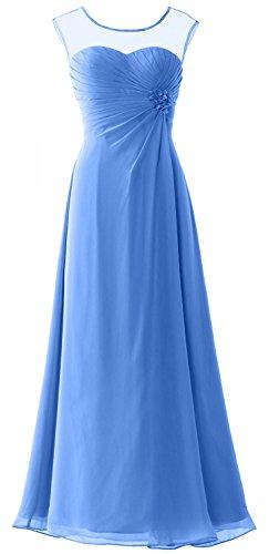 MACloth -  Vestito  - linea ad a - Senza maniche  - Donna Blue