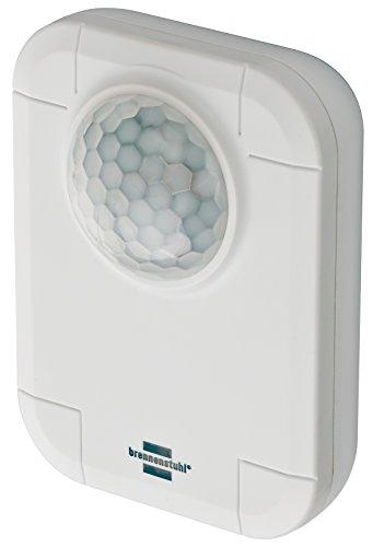 Brennenstuhl Brematicpro Funk-Bewegungsmelder (Smart Home Bewegungssensor für innen, mit App-Funktion) weiß