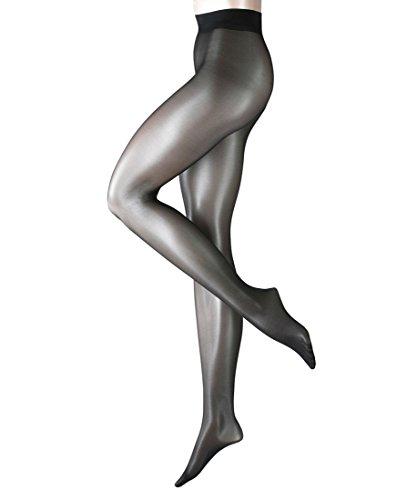 3 x Falke Damen Edle transparente Feinstrumpfhose 40493 Seidenglatt Tights Black