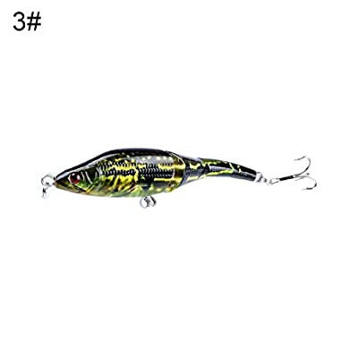 9.5cm Hard Fishing Lures Bait with Hook Pike Plug 3D Eyes Tackle Tool - geshiglobal from geshiglobal