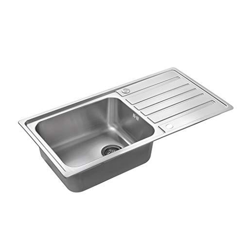 Spülbecken One/Single Bowl Square Edelstahlspülen mit Schmutzfänger Abfall 1000 X 500 Mm Küchenspülen 0629 -