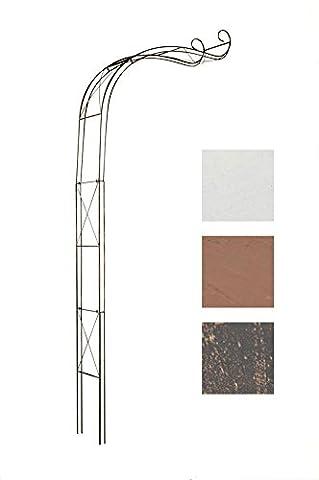 CLP antique Rose Arch EDOARDO made from iron, half-round, Passage height / width: 330 / 116 cm bronze