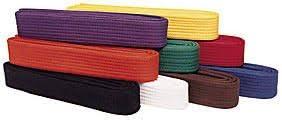 ARFA Set of All 9 Colour Martial Art Karate Belt (Pack of 9 Pieces)