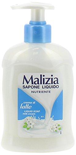 Malizia - Sapone Liquido Crema di Latte, 300ml
