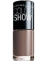 Maybelline New York Make-Up Nailpolish Color Show Nagellack Mauve Kiss / Ultra glänzender Farblack in zartem Braun, 1 x 7 ml
