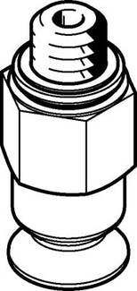 VAS-8-M5-NBR (34588) Vakuumsauger Nenn-weite:2,0mm Sauger-Durchmesser:8mm Anschlusslage:oben