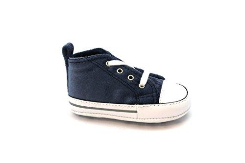 CONVERSE 858880C chaussures gris berceau de bébé gris bleu marine all star mid Blu