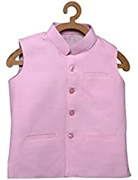 Dhrohar Khadi Cotton Pink Modi Jacket for Boys - 2 Years - 6 Years