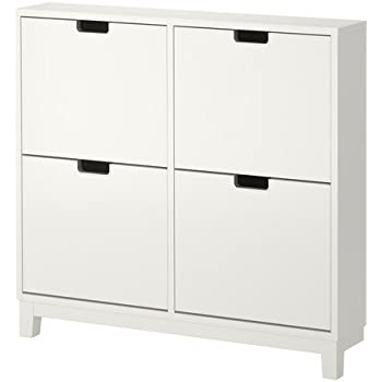 ikea stall schuhschrank mit 4 f chern wei 96x90 cm k che haushalt. Black Bedroom Furniture Sets. Home Design Ideas