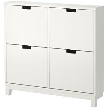ikea stall schuhschrank mit 4 f chern wei 96x90 cm k che haushalt. Black Bedroom Furniture Sets. Home Design Ideas