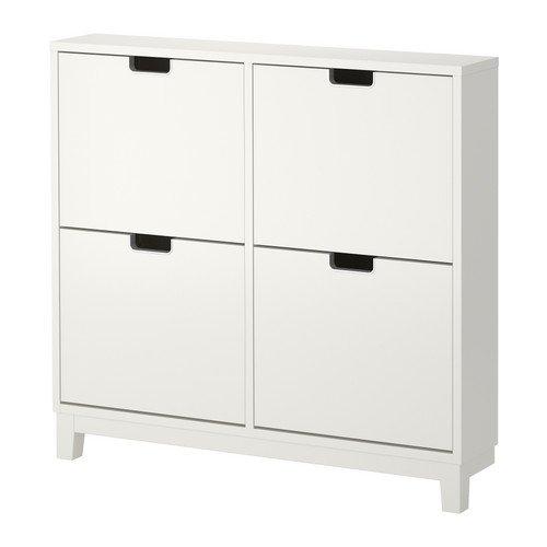 IKEA STALL -Schuhschrank mit 4 Fächern weiß - 96x90 cm (Ikea Schuh Schrank)