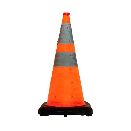 LED-MARTIN® Leitkegel faltbar 70cm - besonders schwere Ausführung - Unfallabsicherung - Absperrung - Umleitung - Straßensicherheit, Faltleitkegel