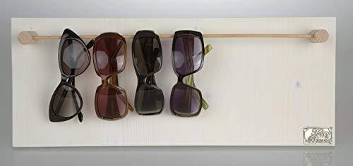 HappyBoard Brillenhalter HOLZ weiss für Sonnenbrillen & Lesebrillen