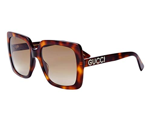 Gucci GG0418S 003 Havana GG0418S Square Sunglasses Lens Category 2 Size 54mm